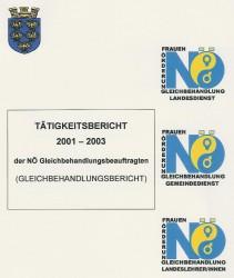 Bericht der NÖ Gleichbehandlungsbeauftragten 2001-2003 Broschüre