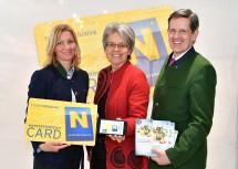 Freuen sich über die digitalen Start der Niederösterreich-Card: Christiana Hess, Geschäftsführerin der Niederösterreich-Card, Tourismus-Landesrätin Petra Bohuslav und Christoph Madl, Geschäftsführer der Niederösterreich-Werbung (v.l.n.r.)