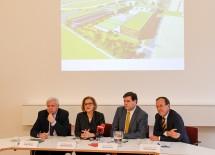 Bei der Präsentation des Projektes im Rathaus Baden.