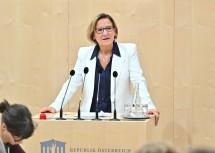 """Landeshauptfrau Johanna Mikl-Leitner bezeichnete den Bundesrat als eine """"unverzichtbare und weit hörbare Stimme""""."""