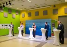 Bei der Pressekonferenz (v.l.): Klaus Moser, Georg Tappeiner, Landeshauptfrau Johanna Mikl-Leitner, Ursula Strauss und Martin Lammerhuber