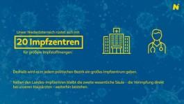 20 landesweite Impfzentren in Niederösterreich