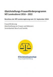 Kurzbericht - 1. Auswertung des Gleichstellungs- Frauenförderprogramms NÖ Landesdienst 2016 – 2018 Broschüre