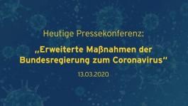Erweiterte Maßnahmen der Bundesregierung zum Coronavirus